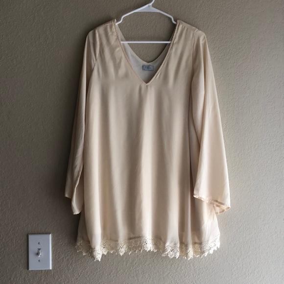 Tobi Dresses & Skirts - Cream Long Sleeve Dress